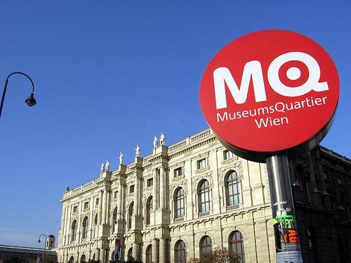 Museums Quartier Wien La fachada principal