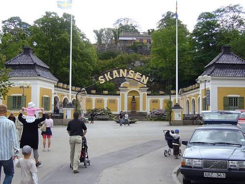 Entrada al parque suecia