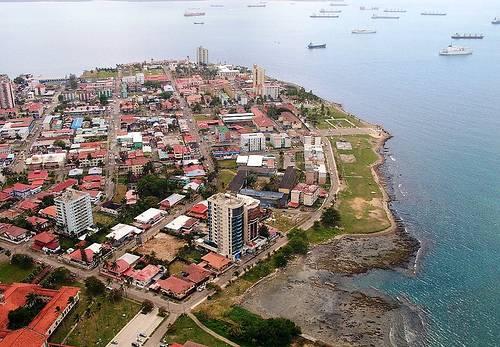 Ciudad de Colon Panama, vista aérea
