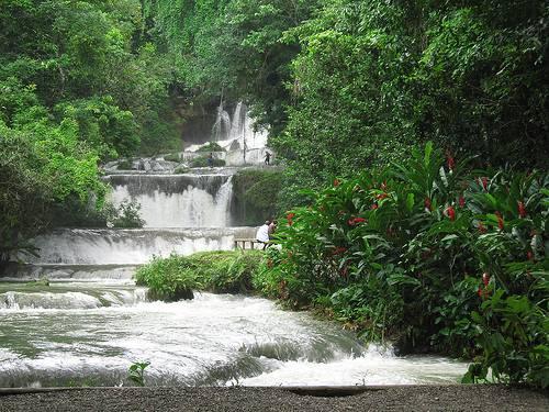 Bellas cascadas en Jamaica