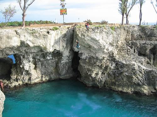 Playas rocosas en Jamaica