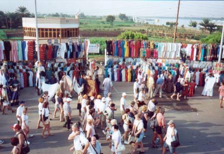 Lugar típico de Egipto, el mercado de Asuán 2