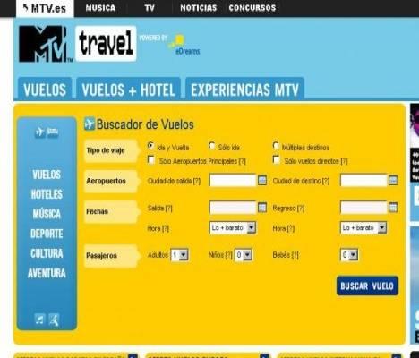 MTV crea un portal de viajes en Internet 1