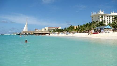 playa palm beach en aruba