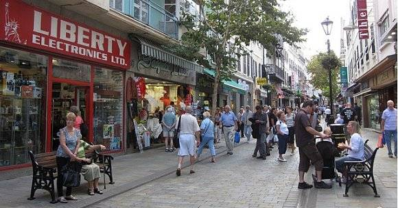 La Main Street de Gibraltar 1
