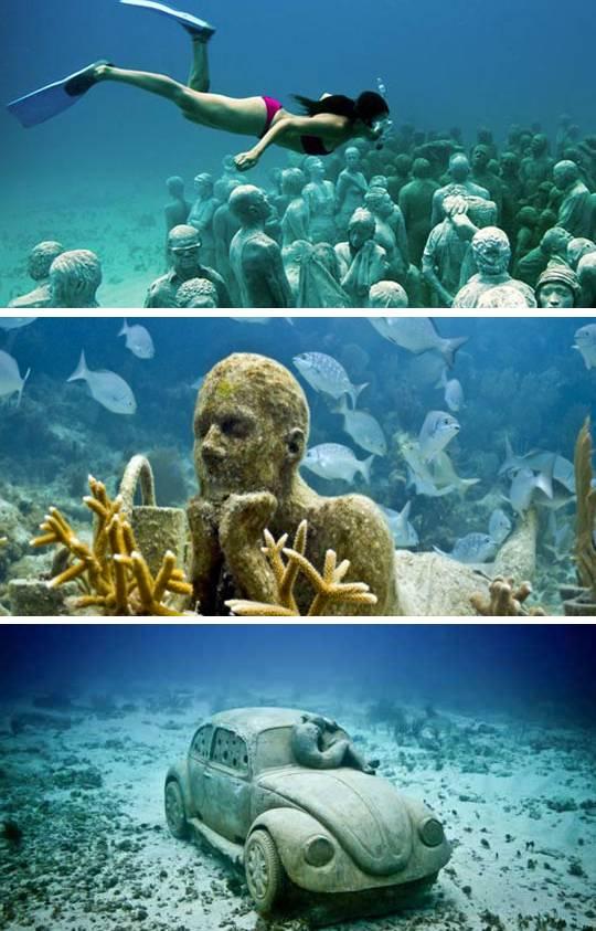 Sumérgete en el Museo Submarino de Cancún