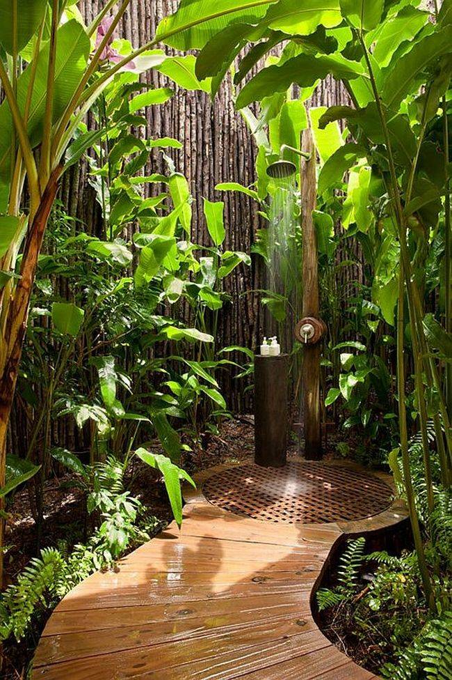 cosas caras - ducha en jardin botanico