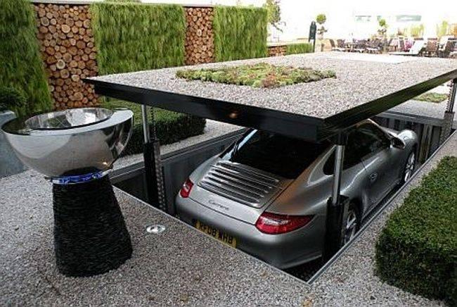 cosas caras - un garaje con ascensor subterraneo