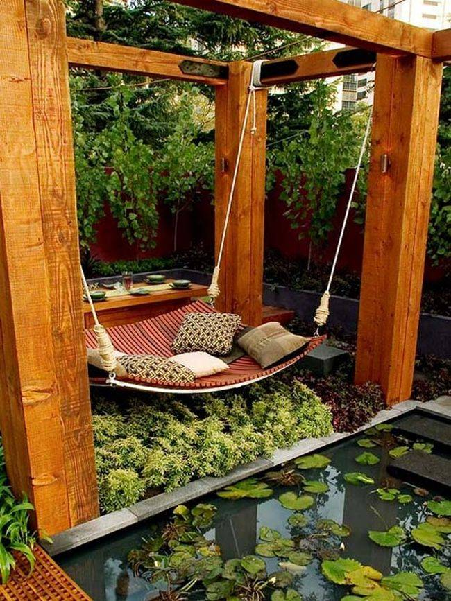 cosas caras una hamaca en el jardin