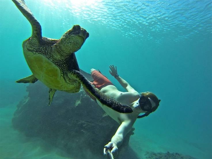 Go pro bajo el agua