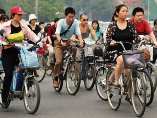 Corea del Norte China bicicleta