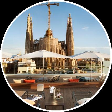 Disfrutar de las vistas a la Sagrada Familia en el Hotel Rosellón de Barcelona 2