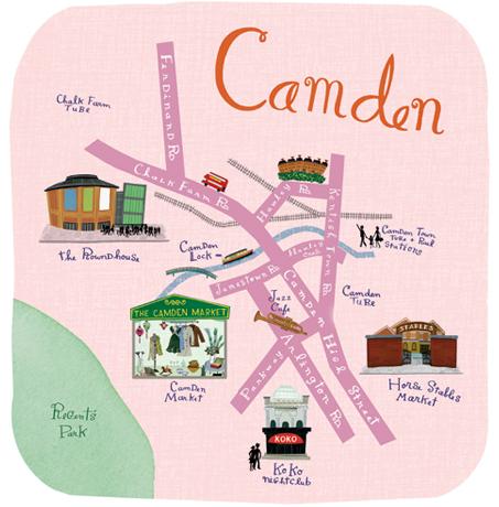 mapa ilustrado - camdem
