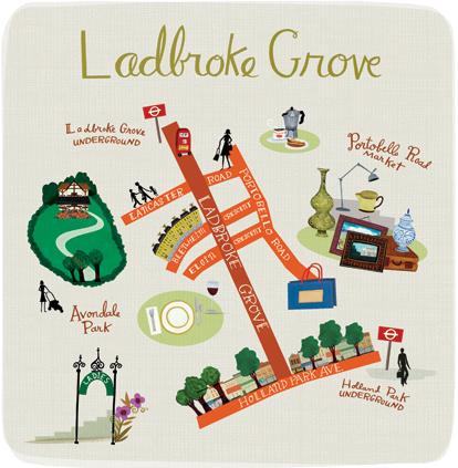 mapa ilustrado - landbroke grove