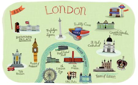 mapa ilustrado - londres
