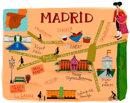 mapa ilustrado - madrid
