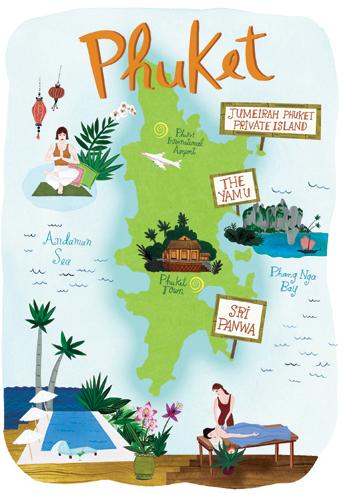 mapa ilustrado phuket