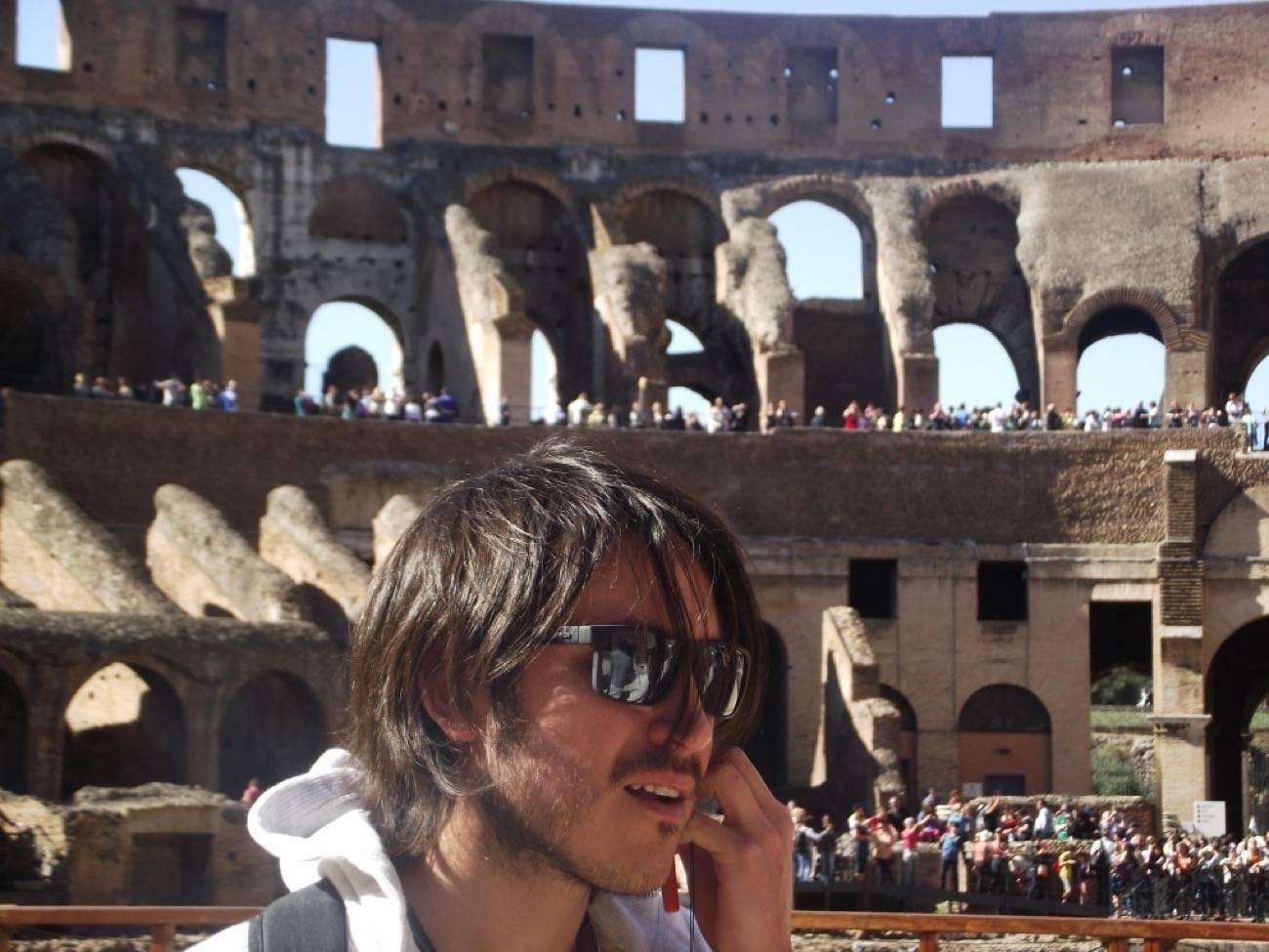 viajero o turista en Roma