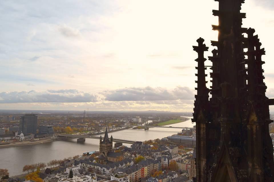 vistas desde la catedral de colonia