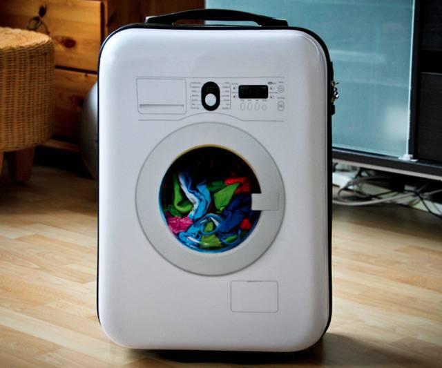 maletas de viaje más originales - maleta lavadora