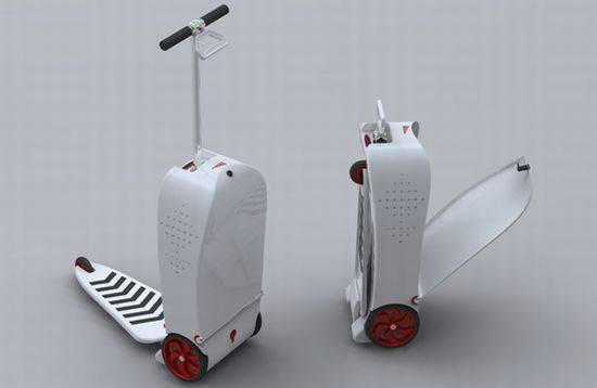 maletas de viaje más originales - maleta patinete 1
