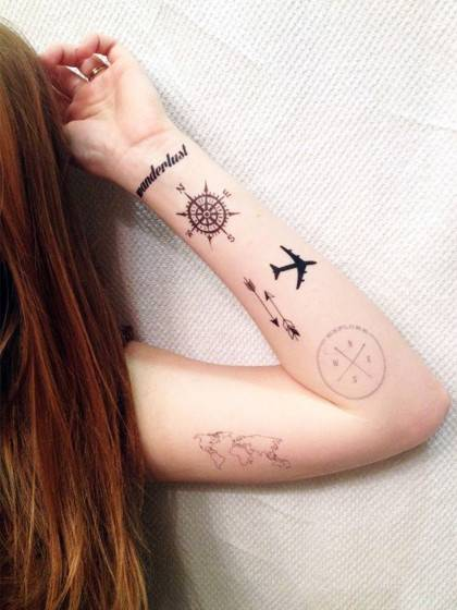22 tatuajes de viajes para no olvidar tu esp ritu aventurero for Price of small tattoo