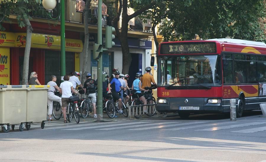 bicicletas en los transportes públicos: autocares