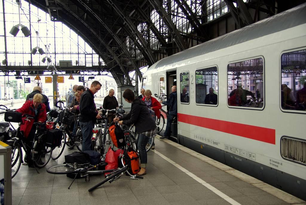 bicicleta en los transportes públicos: tren