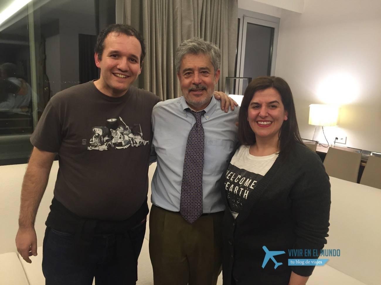 Carlos Iglesias con David Carrero y Antonia Gonzalez