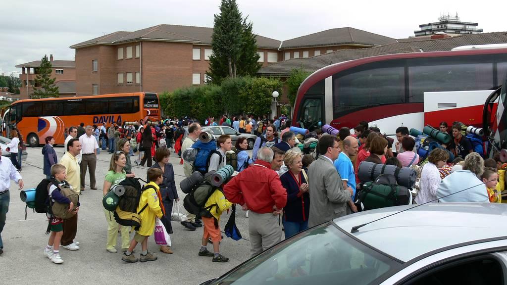 niños en transportes públicos: autocar