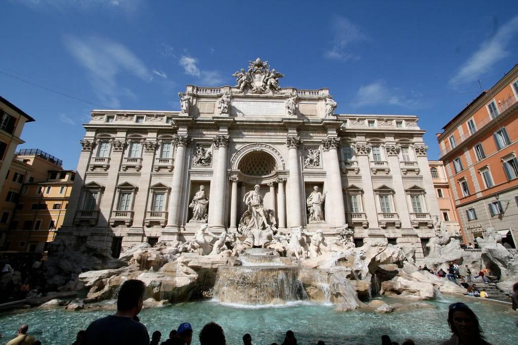 viaje a roma de 3 dias: fontana de trevi