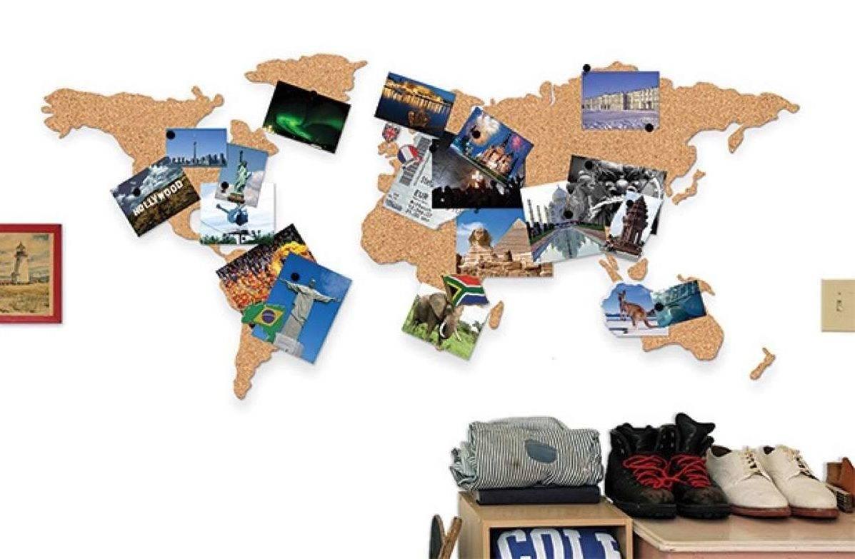 mapas del mundo de corcho