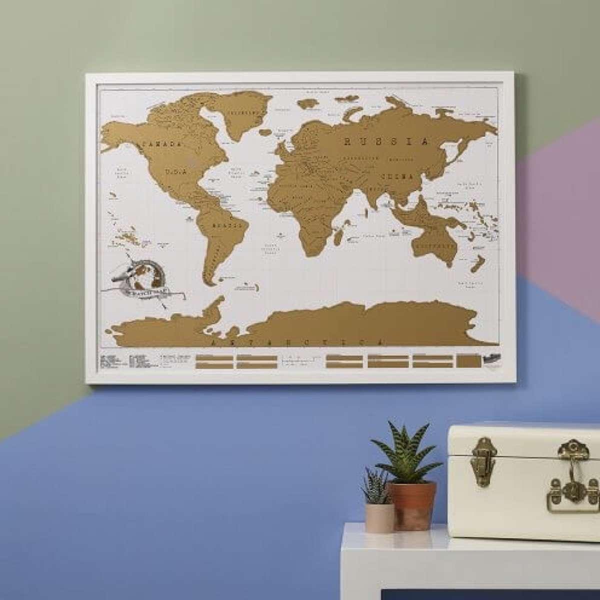 mapas del mundo para decorar y recordar tus viajes