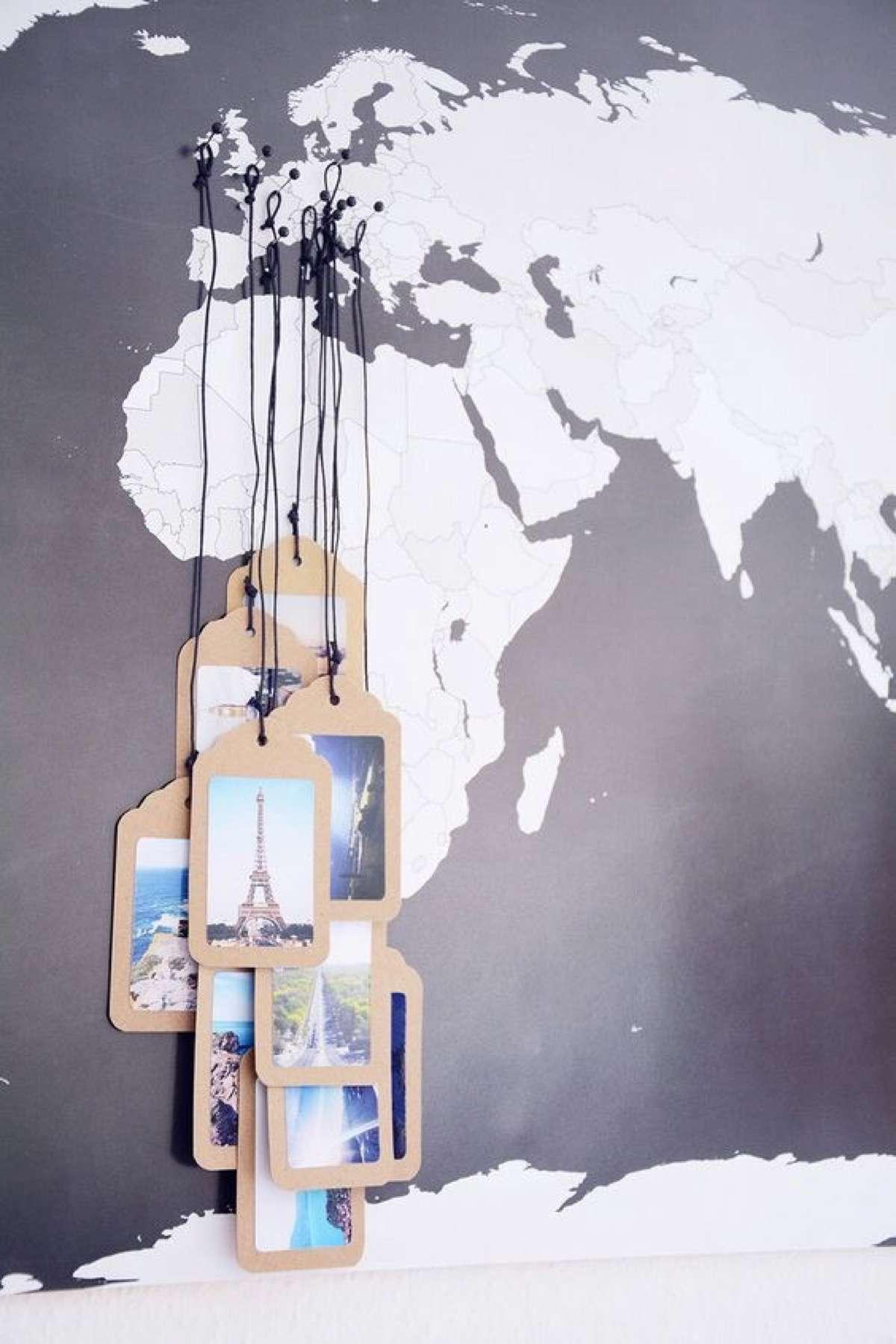 mapas del mundo decorados