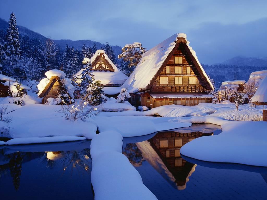 viajar en invierno Shirakawago