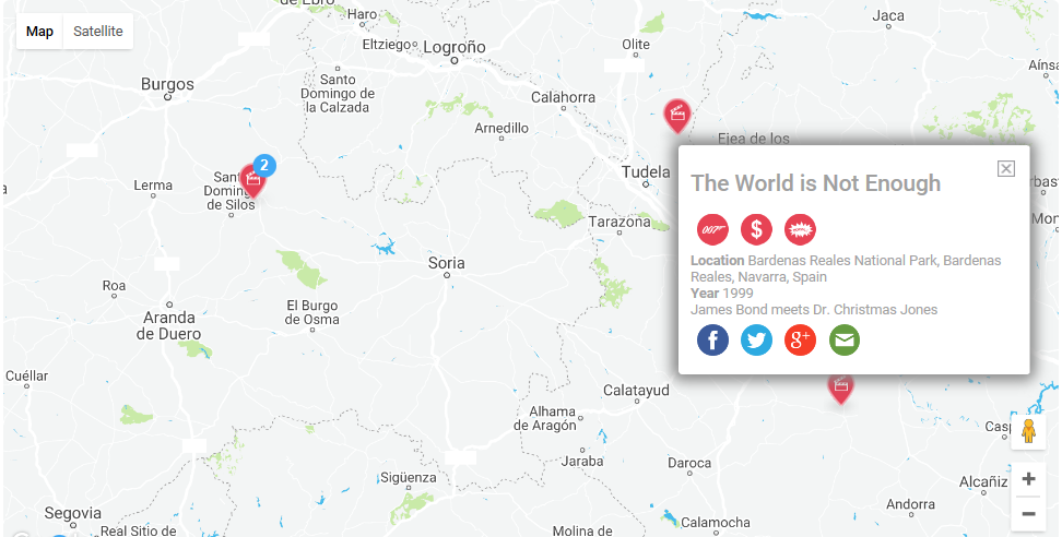 La vuelta al mundo en 442 películas por medio de un mapa interactivo 5