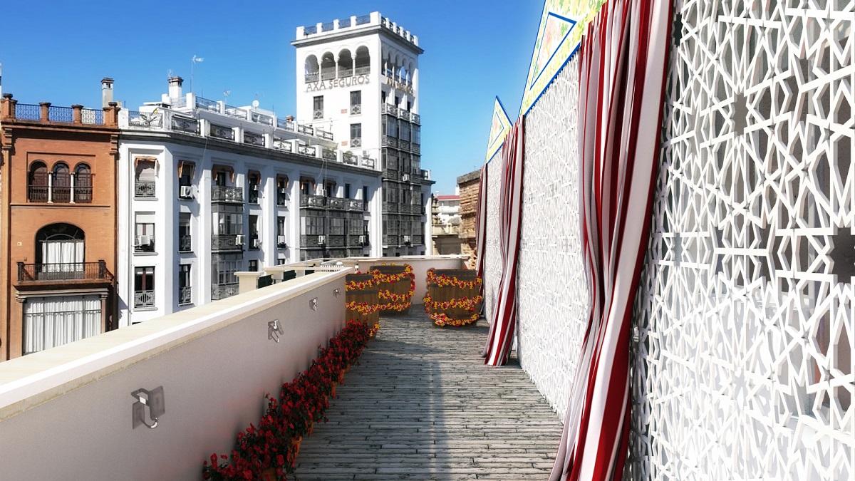 Se diseña el primer apartamento con caseta en el corazón de Sevilla como tributo a la Feria de Abril 1